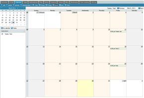 Calendar Tab