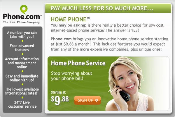 Phone.Com Home Phone Sign Up