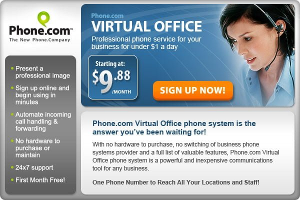 Phone.Com Virtual Office Sign Up
