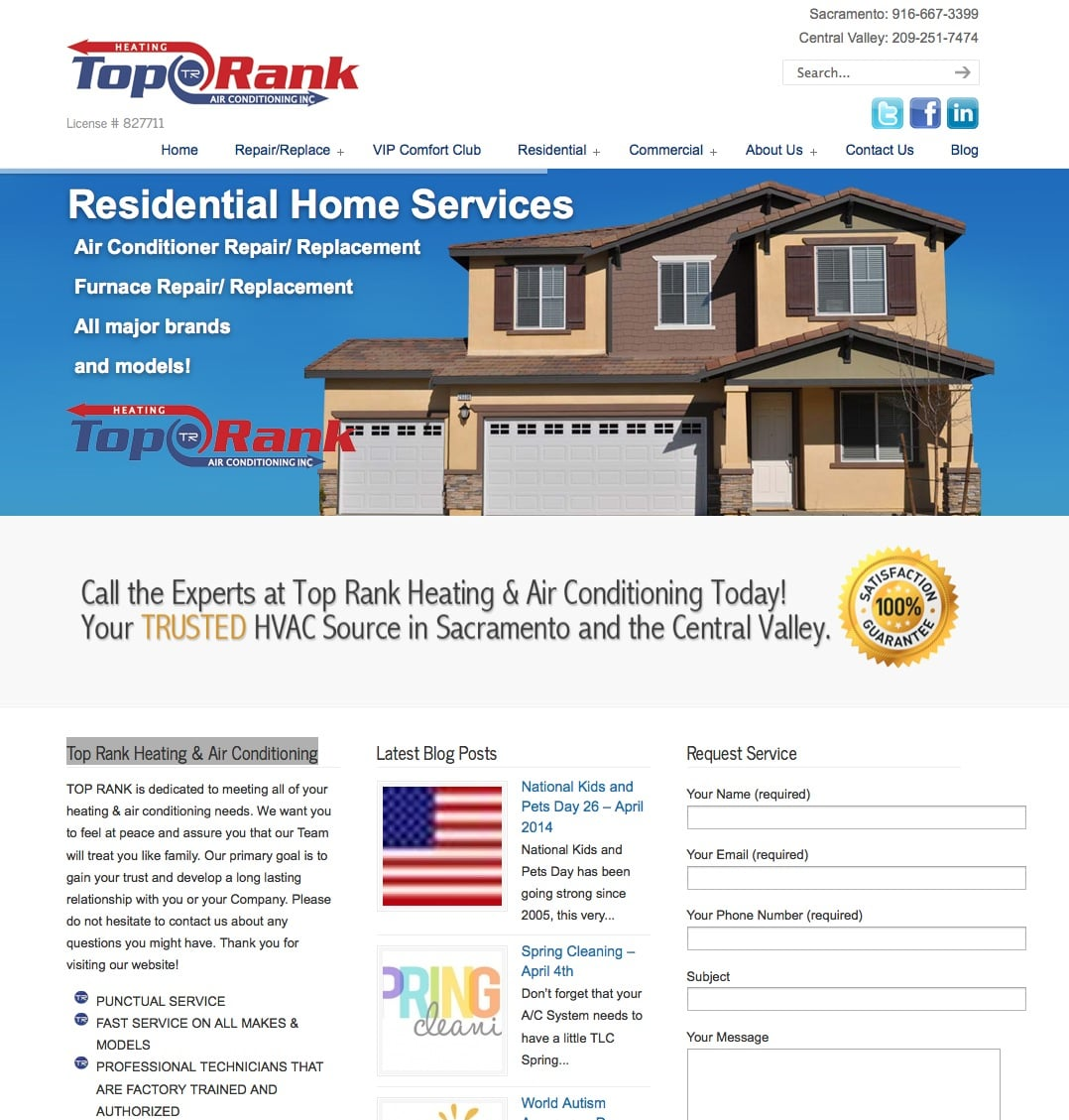 Top Rank Heating & Air Conditioning - Southern California